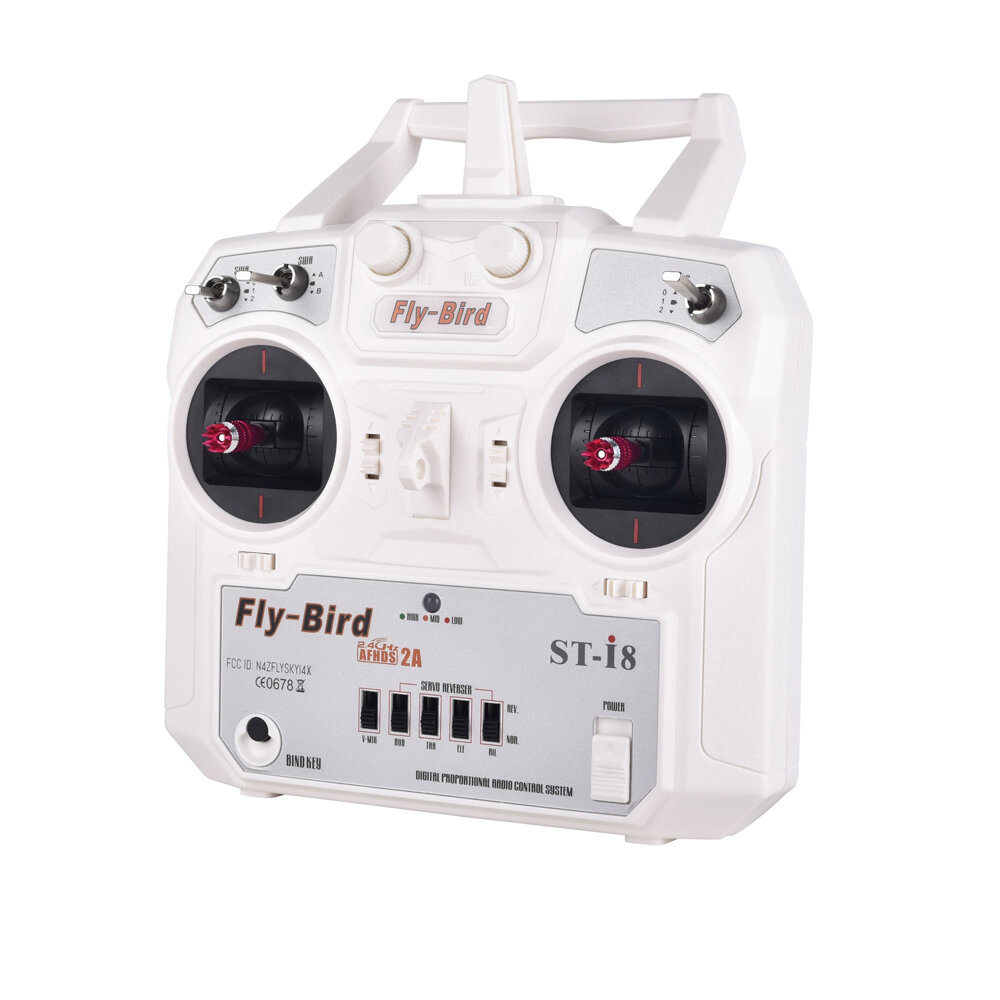 FlyBird ST-i8 8CH 2.4G Transmitter Support PPM Output Compatible AFHDS 2A with Receiver for RC Drone