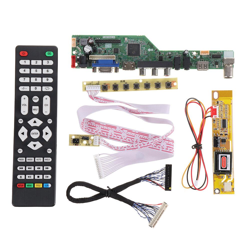 T.SK106A.03 T.SK105A.03 Universal LCD LED Placa de controle do controlador de TV TV / PC / VGA / HDMI / USB + 7 teclas +