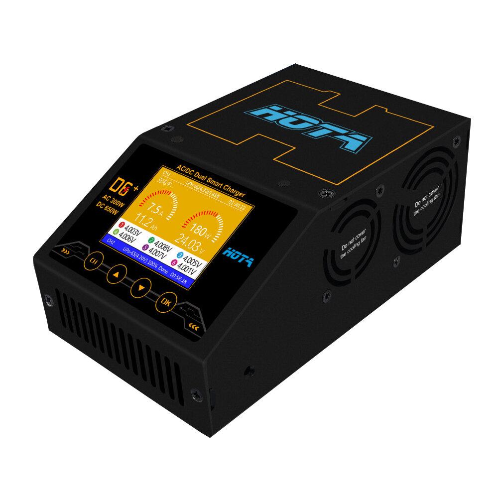 HOTA D6 + AC 300 Вт DC 2X325 Вт 2X15A Двухканальный Smart Батарея Зарядное устройство Разрядник