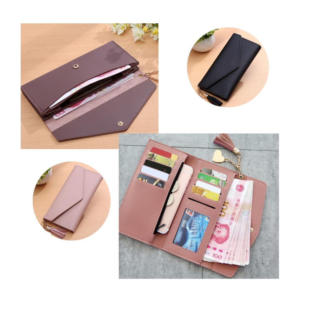 Women Long Purse Multi Card Slots PU Leather Phone Wallet Envelope Clutch Bags