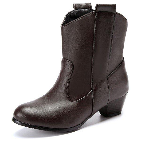 US Size 5-12 Women Short Boots Casual Outdoor High Heel ComfortableBoots, Banggood  - buy with discount