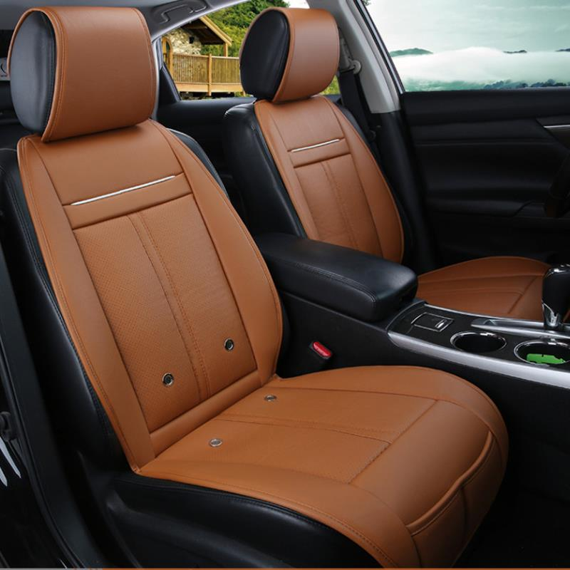 3 In 1 Leather Car Cooling Warm Heated Massage Chair Seat Cushion Universal Auto Seat Cover фото