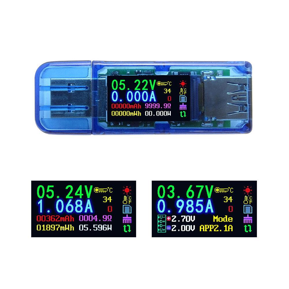 RUIDENG AT34 USB3.0 IPS HD Цветной экран Тестер USB Тестер напряжения и тока и мощности Энергоемкость Эквивалентный импе