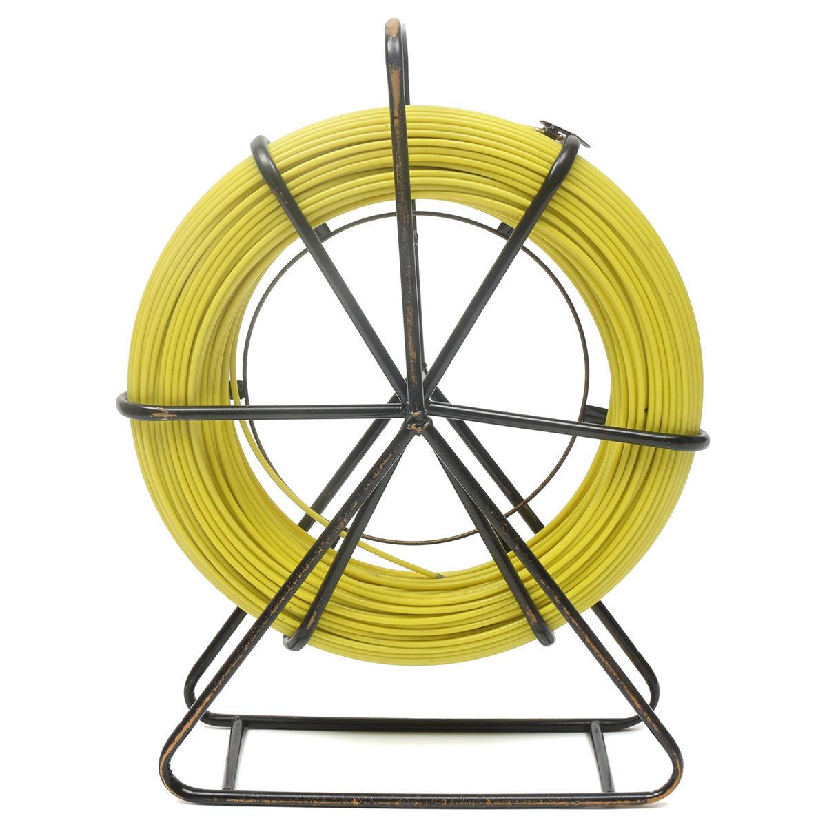130m 6mm Fish Tape Fiberglass Wire Cable Running Rod Duct Rodder Fishtape Puller