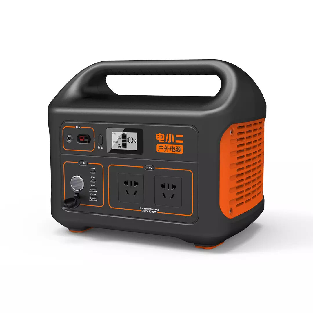 1000W Outdoor Portable Power Generator 1002Wh/278400mAh 220V 18W PD Emergency Backup Power Station