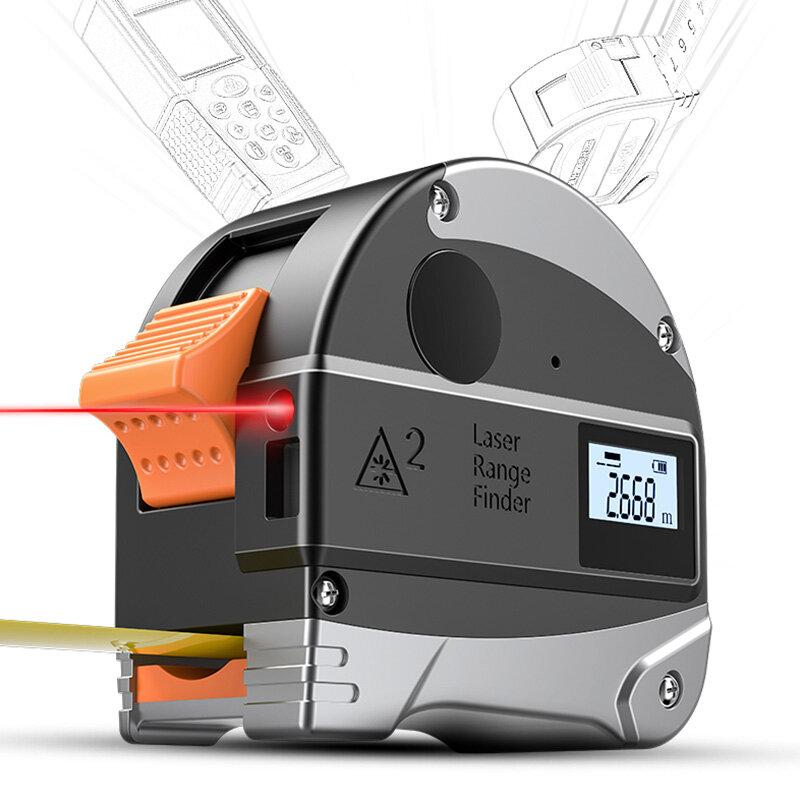 30M Infrared Digital Tape Measure Distance Measuring Instrument Range Finde N8F5