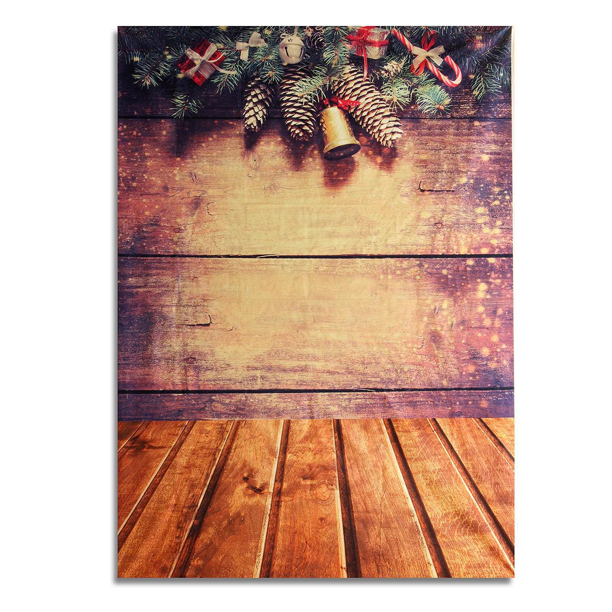7x5FT Рождественские подарки Деревянные настенные обои Фон Фон Студия Фотография Фотография Prop фото