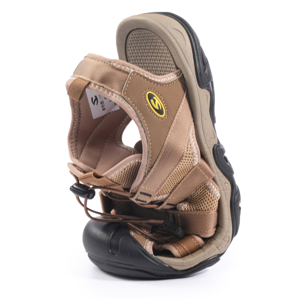 Gracosy Men's Sandals Leather Breathable Non-Slip Quick Drying Fish Sandals Clip Toe Sandals
