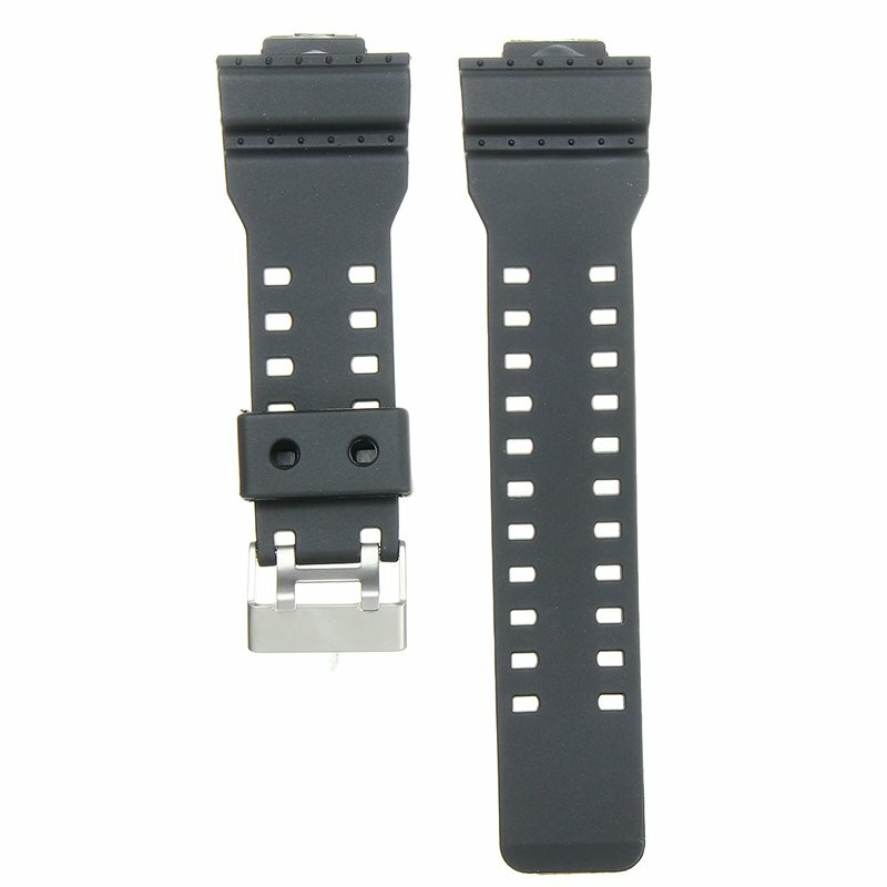 22mm Penggantian Frosted Silicone Rubber Watch Band Strap Untuk CASIO G Shock