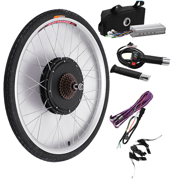 बाइकइट 48V 500W 26 इंच इलेक्ट्रिक साइकिल संशोधन किट ड्राइविंग मोटर रियर व्हील नियंत्रक बाइक किट
