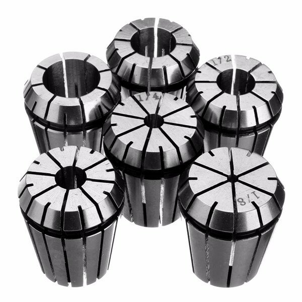 6pcs ER32 Spring Collet Set 1/8 Inch to 3/4 Inch Chuck Collet for CNC Milling Lathe Tool
