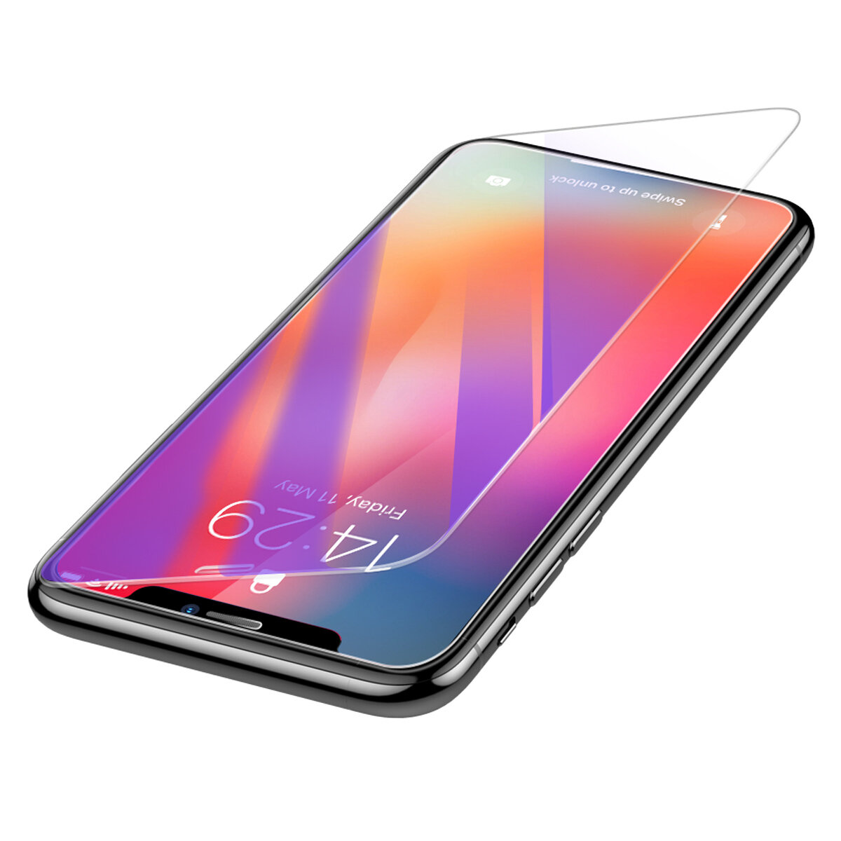 Baseus 0.3mm Clear / Anti Blue Light Ray Full herdet glass skjermbeskytter For iPhone XS Max / iPhone 11 Pro Max