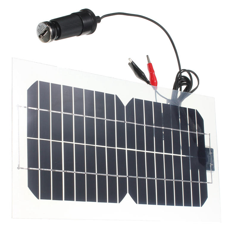 18V 5.5W 31.5x16.5x0.15cm Semi-Flexible Solar Battery Panel with USB Cable