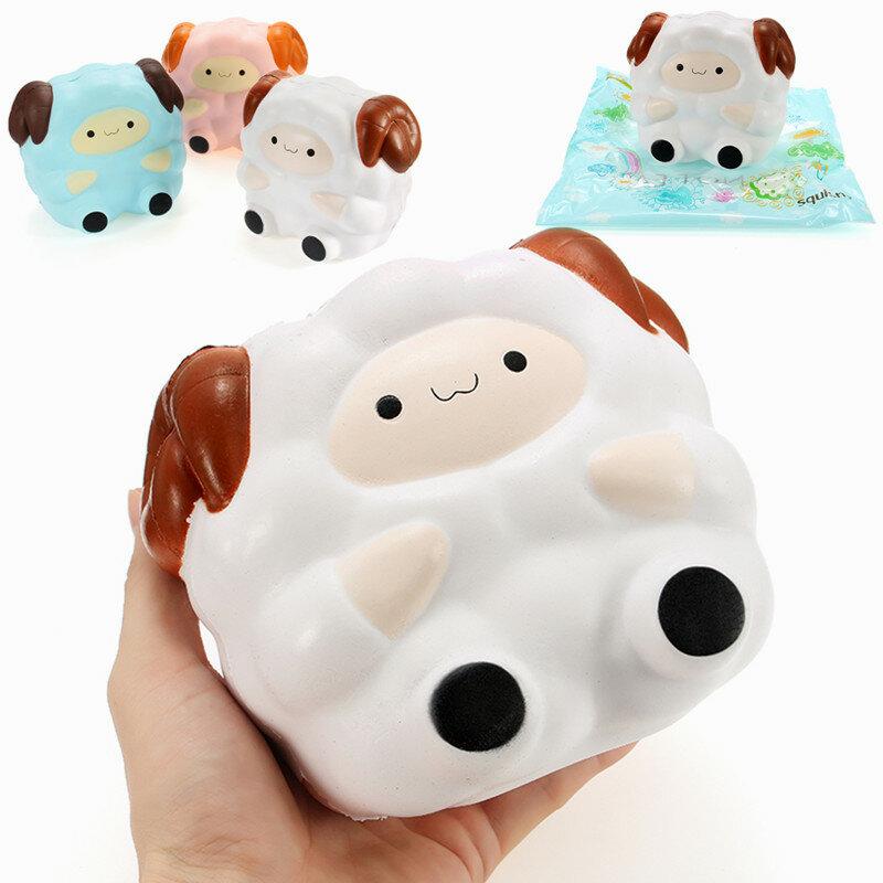 स्क्विशी जंबो भेड़ 13 सेमी धीमी राइजिंग पैकेजिंग संग्रह उपहार सजावट Soft के साथ निचोड़ खिलौना
