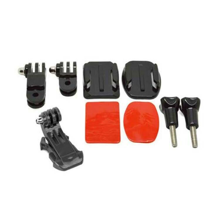 ヘルメットアクセサリーセットJフックバックルマウント基本アダプターネジ3M Gopro Hero用ステッカー5 4 3 3Plus 2 1アクションカメラ