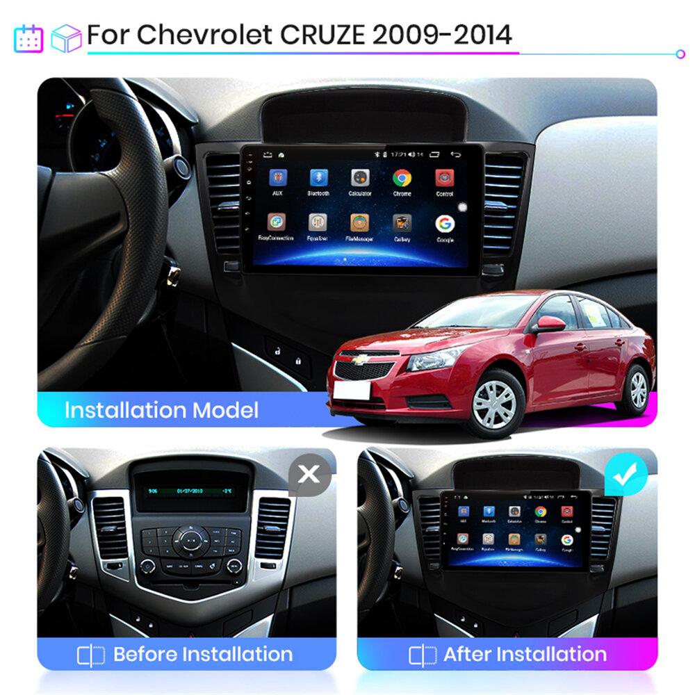 YUEHOO 9インチAndroid 10.0カーステレオラジオマルチメディアプレーヤー2G / 4G + 32G GPS WIFI 4G FM AM RDS bluetooth For Chevrolet Cruze 2009-2014
