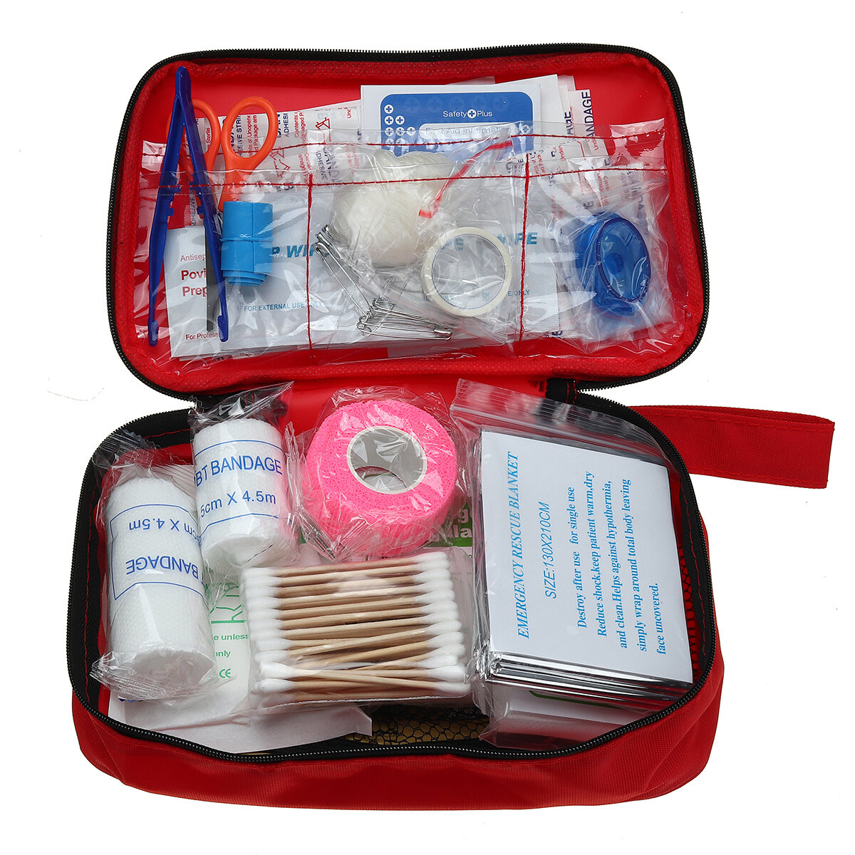 200/45First Aid Kit Outdoor Emergency Survival Kit Gear for Home Office Camping Climbing, Banggood  - buy with discount