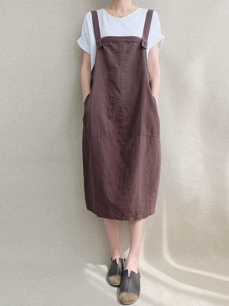 Gündelik Kadın Katı Renkli Kablo Çanta Örtüsü Elbise
