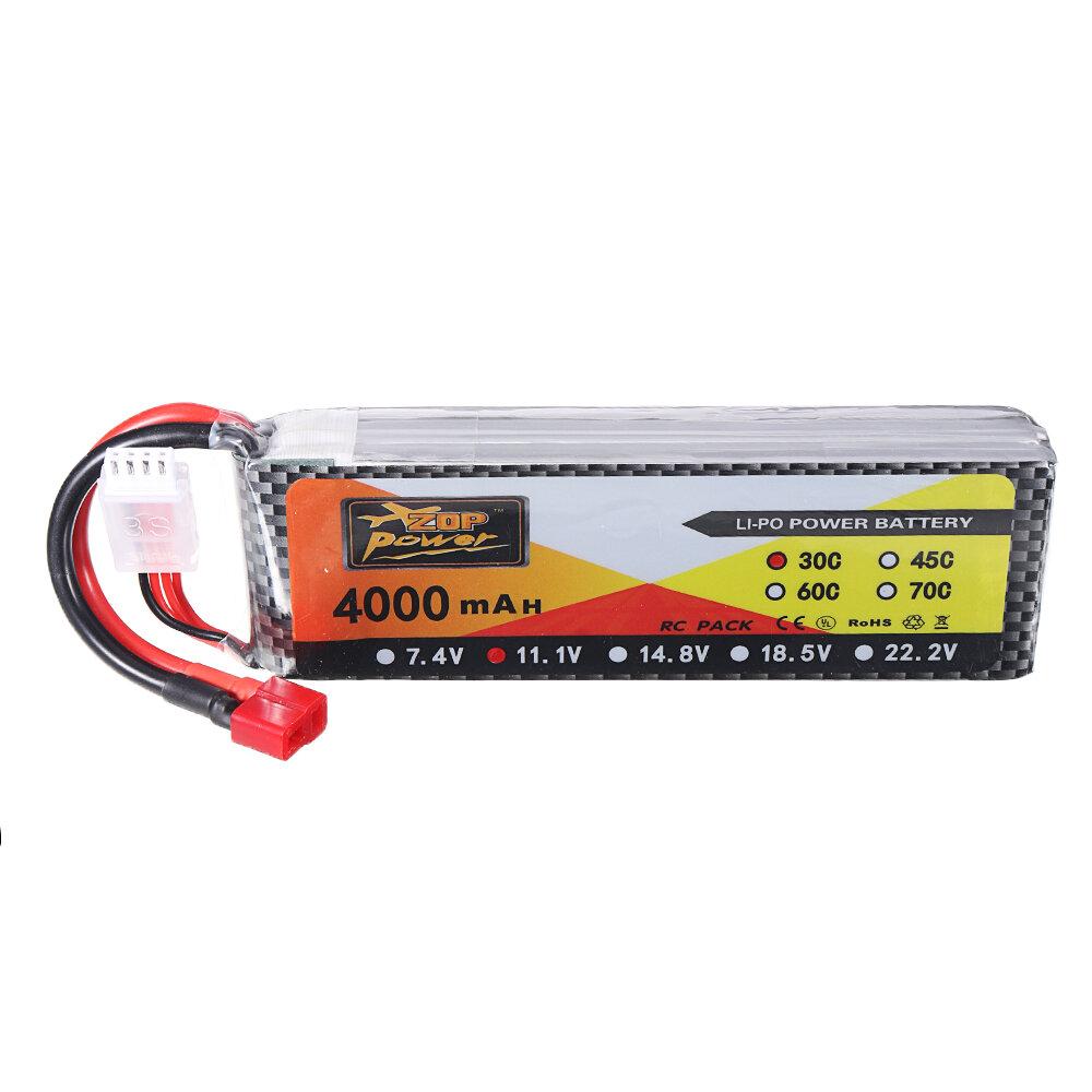 ZOP Power 11.1V 4000mAh 3S 30C Lipo Батарея T Plug для JLB Racing J3 Speed Авто
