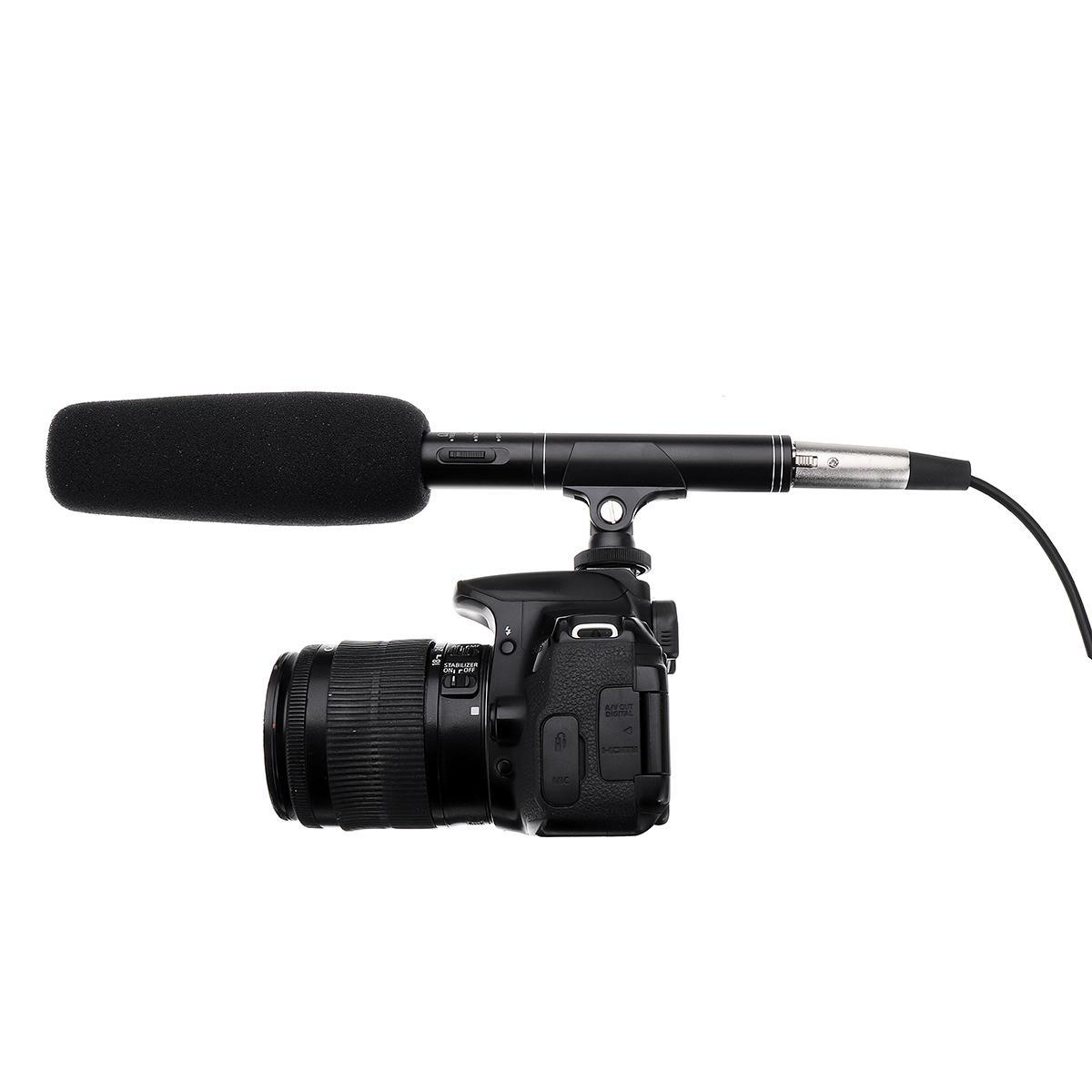 Faine FA-270 27CM en Cámara grabación escopeta Rode Micrófono para tomar una entrevista de video