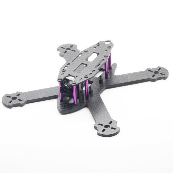 HSKRC TWE210 210mm Wheelbase 4mm Arm 3K Carbon Fiber X Type FPV Racing Frame Kit for RC Drone