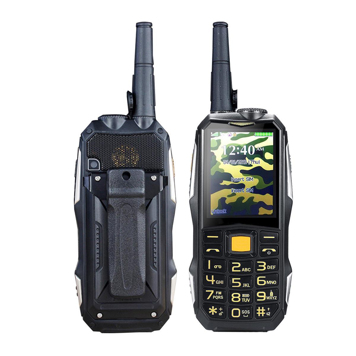 2 4inch 19800mah Rugged Phone Dual SIM GSM Walkie Talkie Standby for  Smartphone FM Radio