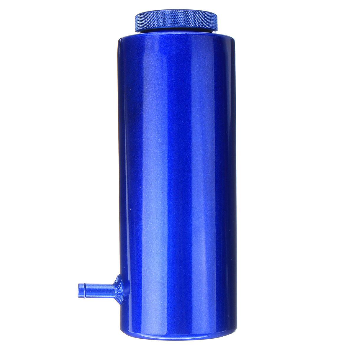800ml Cylinder Radiator Overflow Reservoir Coolant Tank Black Aluminum Can