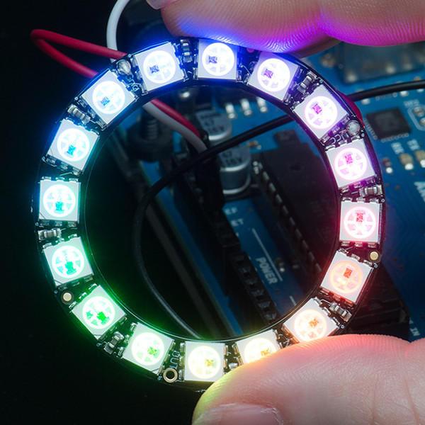 リング5V Arduino用ドライバモジュール内蔵16x 5050 RGB LEDボード