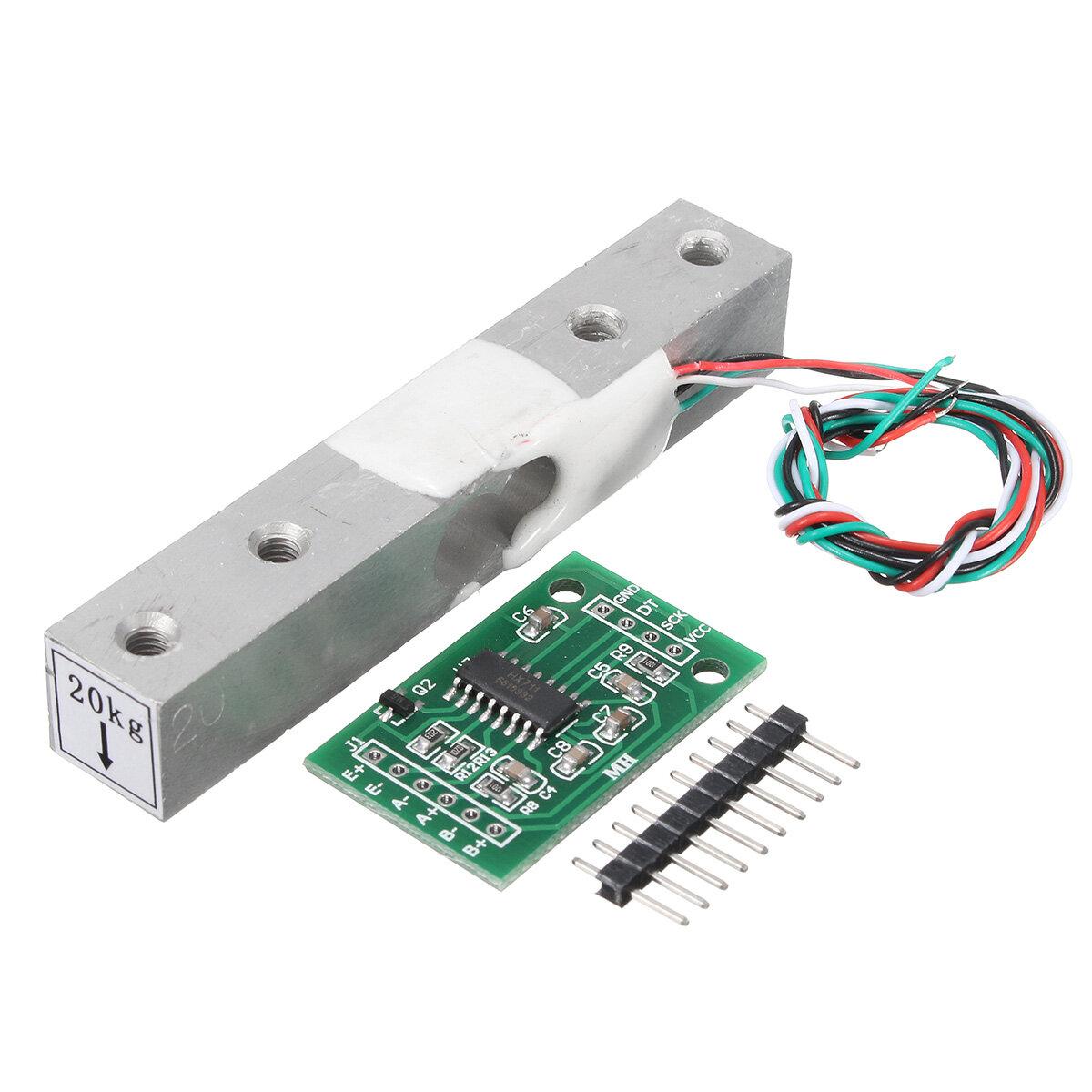 Картинка - HX711 шкала модуль + 20кг из алюминиевого сплава весом комплект тензодатчика датчика для Arduino