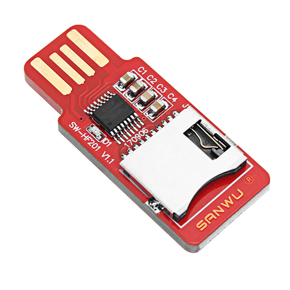 10pcs SANWU HF201 Readable And Writeable TF Card Reader Micro SD Card / Mobile Phone Memory Card T-Flash Card Module Support Plug And Play Hotplug