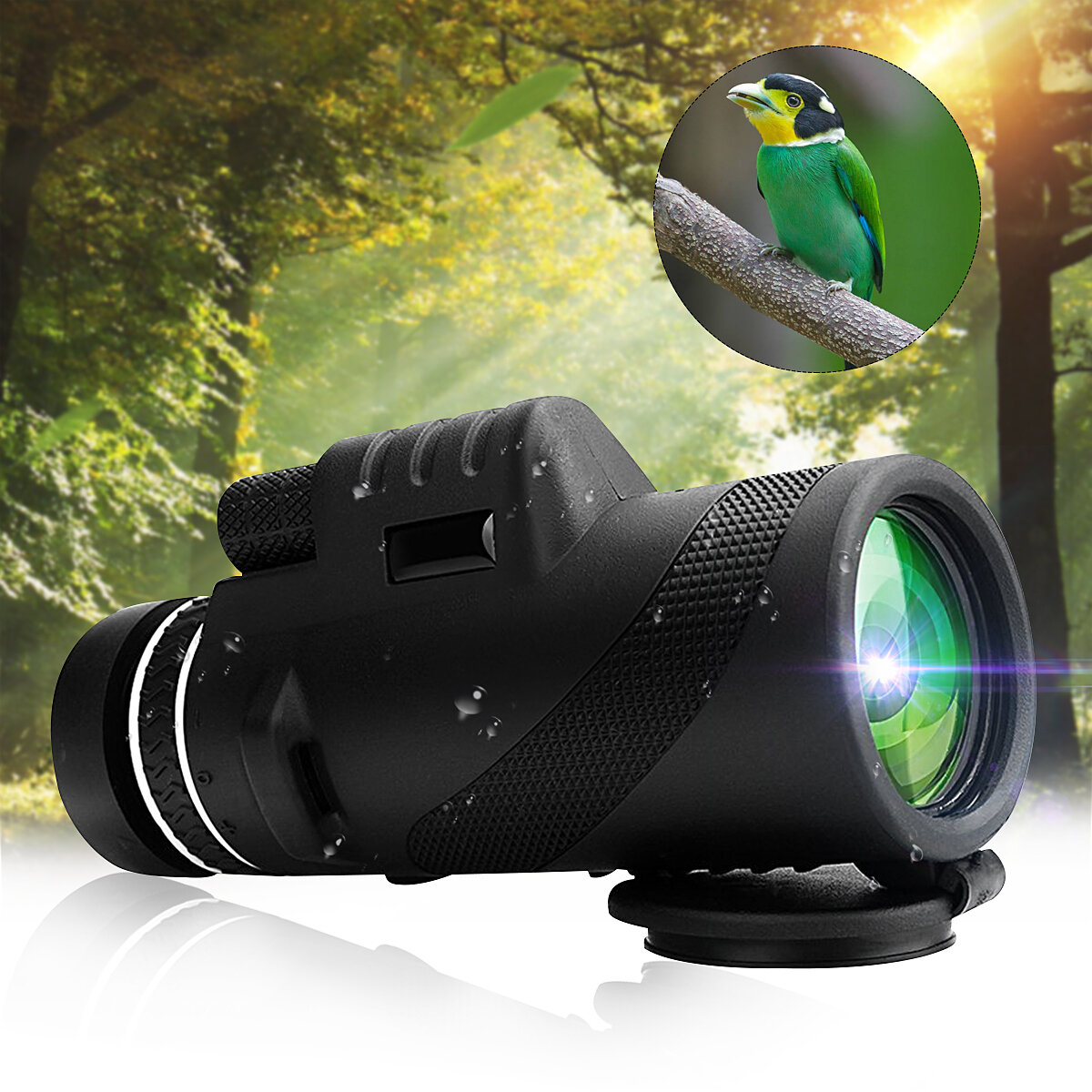 IPRee� 40x60 Monocular HD Optic BAK4 Day Night Vision Telescope 1500m/9500m Outdoor Camping Hiking