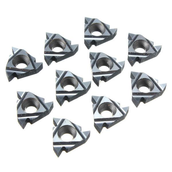 10 pezzi 16IR AG55 Inserti per filettatura in carburo Inserti per portautensili interni