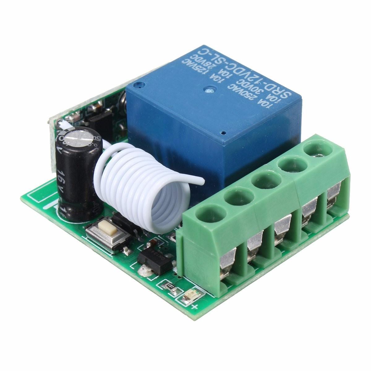 DC 12v 10A relay 1CH wireless RF Remote Control Switch Transmitter Receiver car