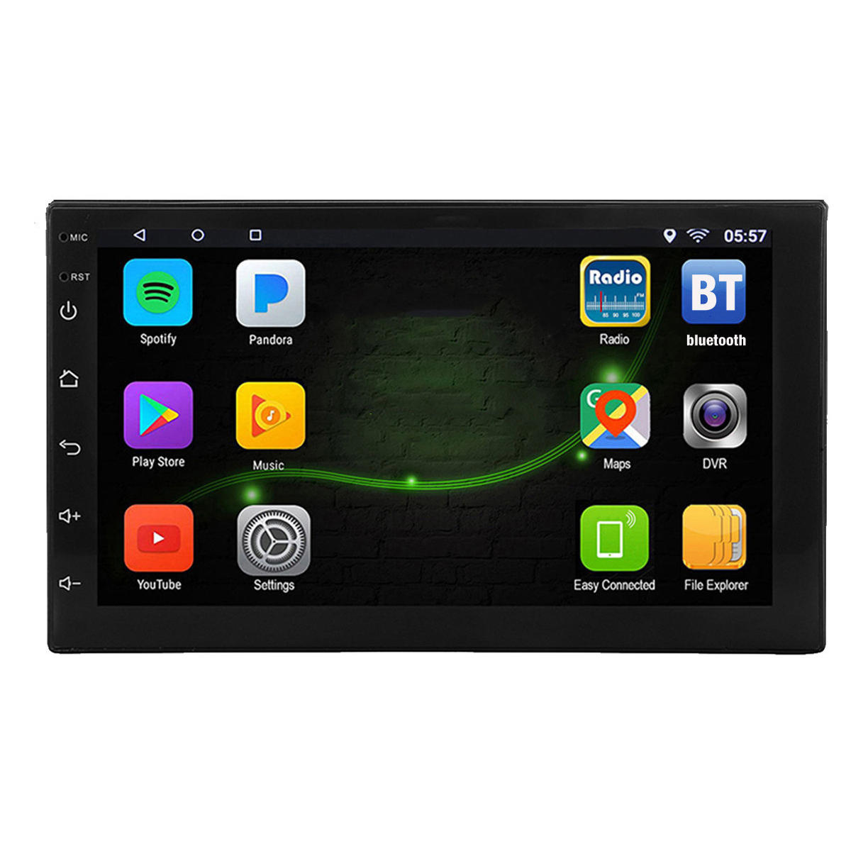7 Inch 2 DIN for Android 8 1 Car Stereo Radio 1+16G Quad Core MP5 Player  2 5D Touch Screen WiFi GPS AM bluetooth