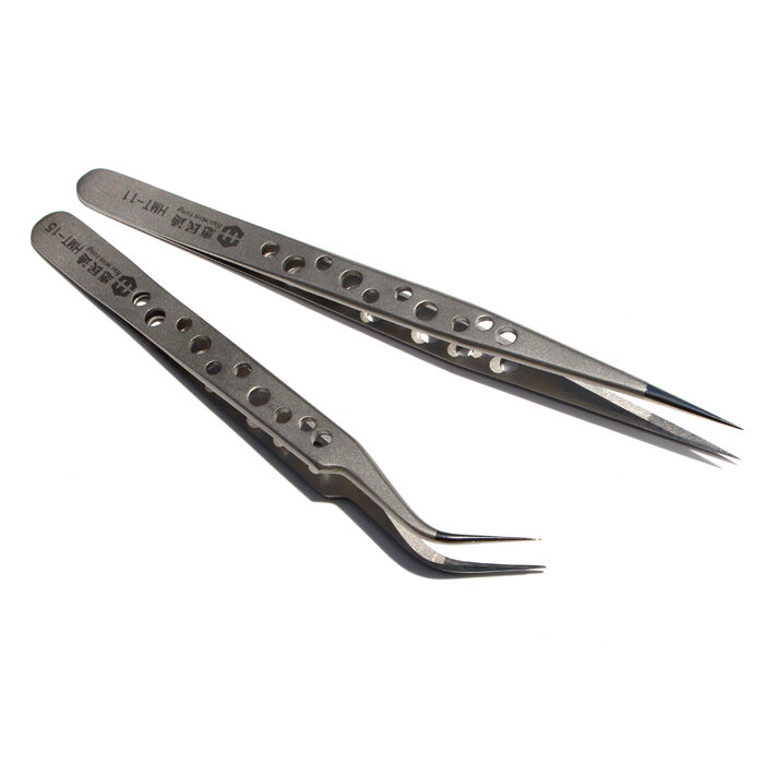 High Precision Tweezers Stainless Steel Elbow Tip With Cooling Hole Phone Repair Tool