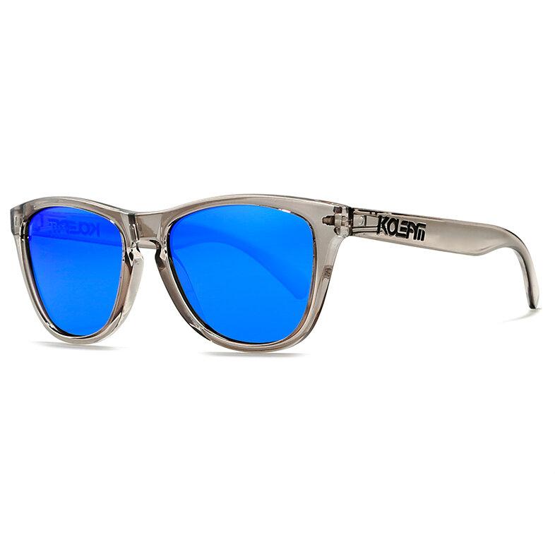 KDEAM TR90 Plástico Titanio Hombres gafas de sol polarizadas UV400 al aire libre Conducción pesca Ciclismo Sunglass