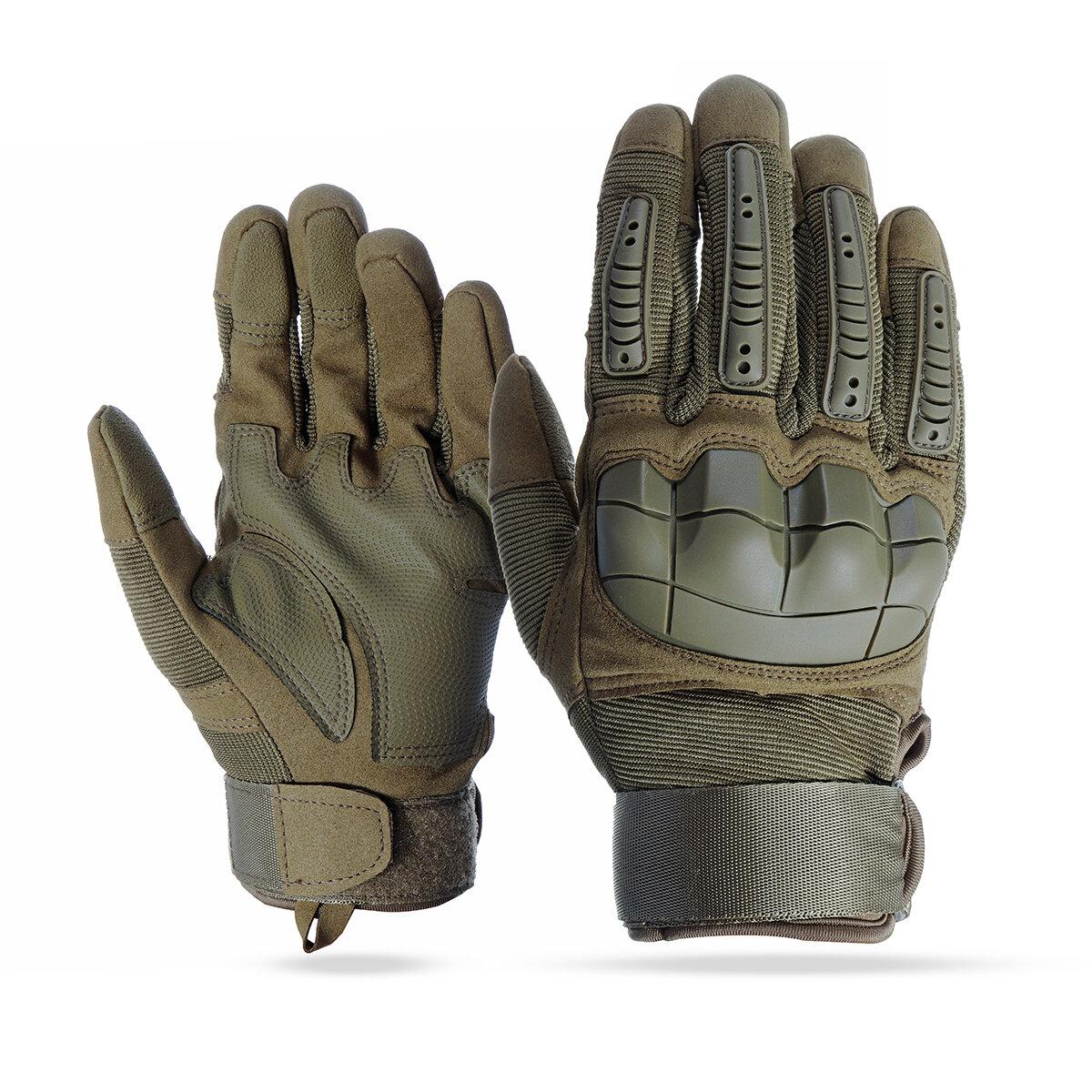 Сенсорный экран Полный палец Перчатки мотоцикл Военный Tactical Airsoft Hard Knuckle На открытом воздухе