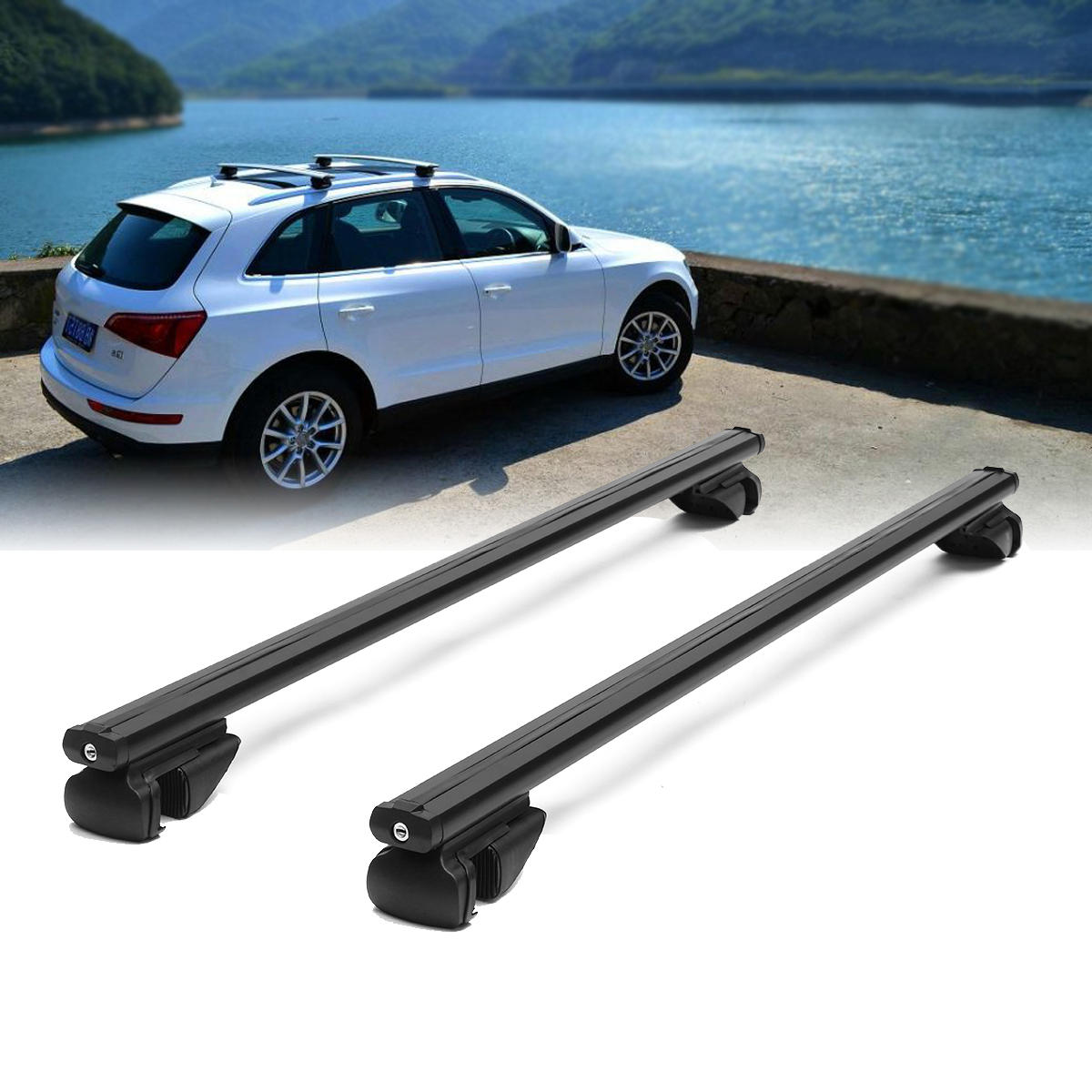 BMW 3 Series Universal Aluminium Anti-Theft Roof Bars 120cm
