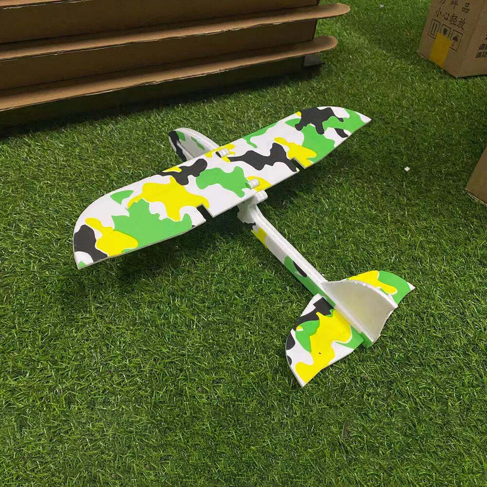 DIY 350mm Wingspan 2.4GHz 2CH MPP Carbon Fiber Slow Fly Glider Park Flyer Indoor Electric Mini RC Airplane RTF