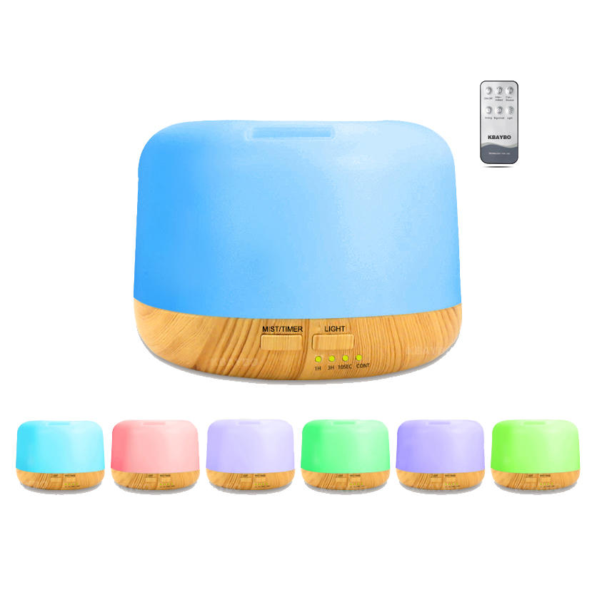 300ML Remote Control 7 Colors LED Atmosphere Light Essential Oil Aroma Fog Diffuser Air Humidifier Air Purifier
