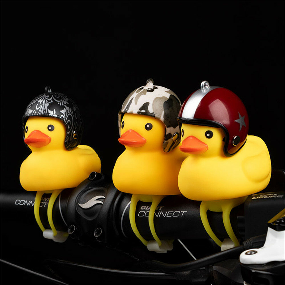 Motorcycle Bike Bell Broken Wind Duck Riding Light Cycling Accessories Small Yellow Duck Helmet Child Horn