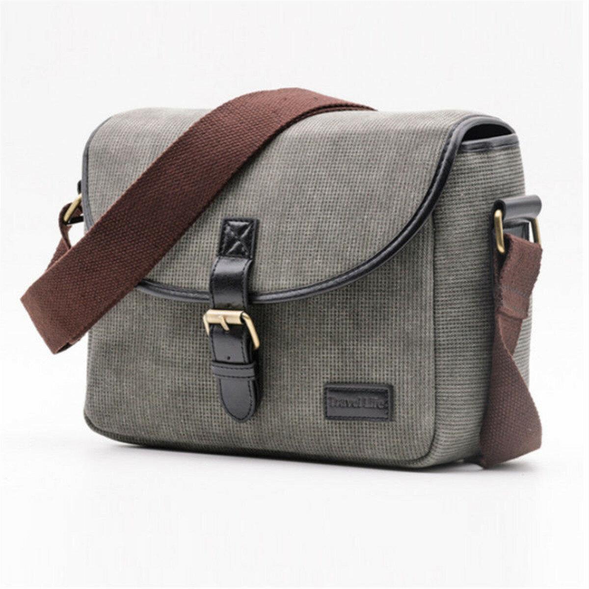 Canvas Travel Shoulder Bag Case For DSLR Digital Camera