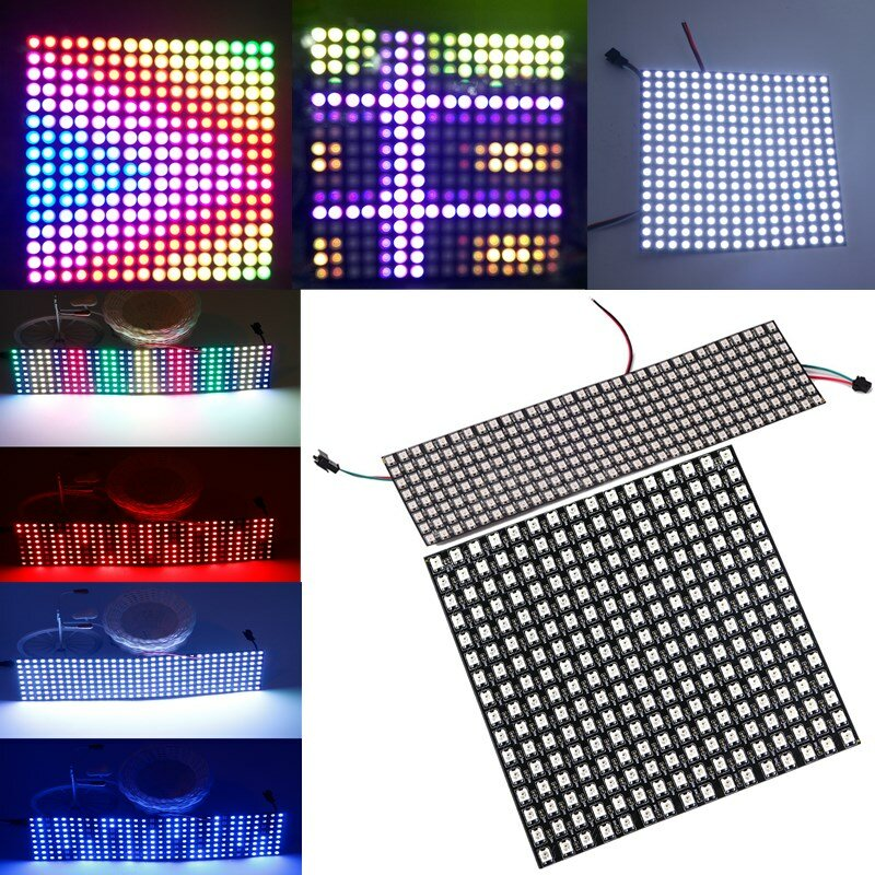8*32cm 16*16cm WS2812B 256 Pixels Digital 5050 RGB Dream Color Programmed LED Module Strip DC5V