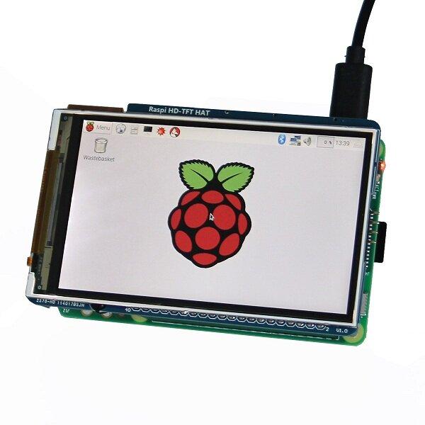 Geekwrom HD 3,5 tum TFT Displayskärm 800x480 För Raspberry Pi 3B 2B Med 2 knappar och fjärrkontroll IR