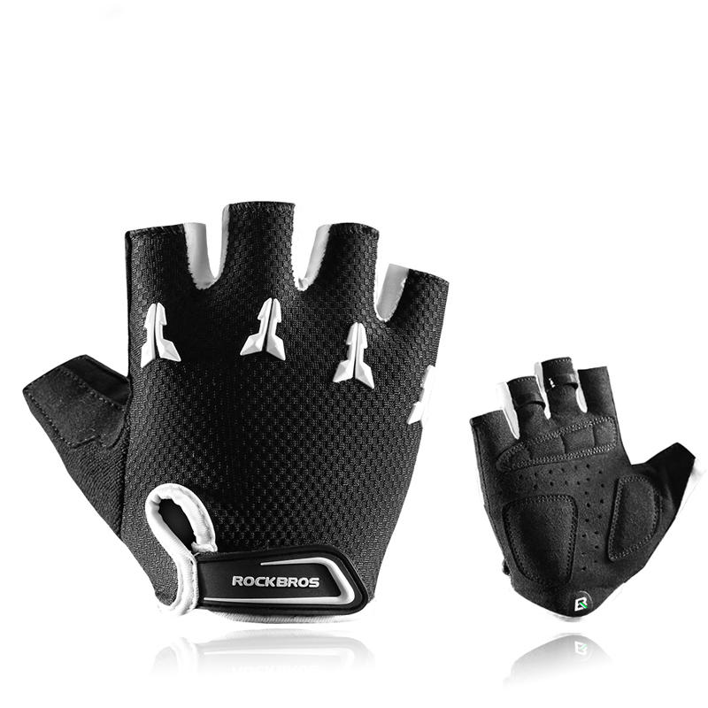 ROCKBROS Outdoor Sports Breathable Bike Half Finger Gloves