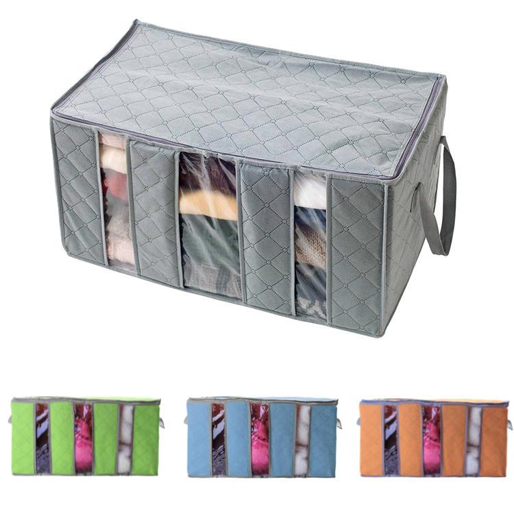60x35x35cm Non Woven Clothes Quilt Storage Bag Dustproof  Moisture Proof Organizer Bag with Zipper