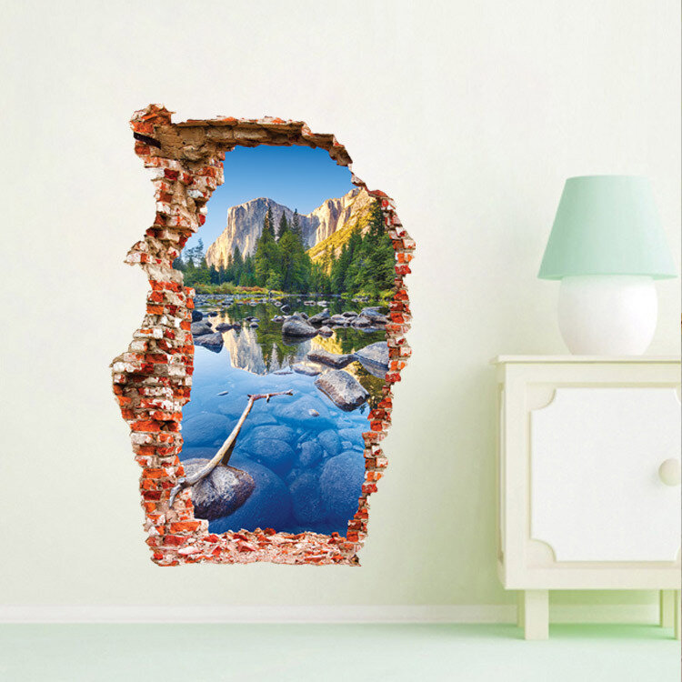 Miico 3D Creative PVC Wall Stickers Home Decor Mural Art Removable Outdoor Landscape Wall Decals