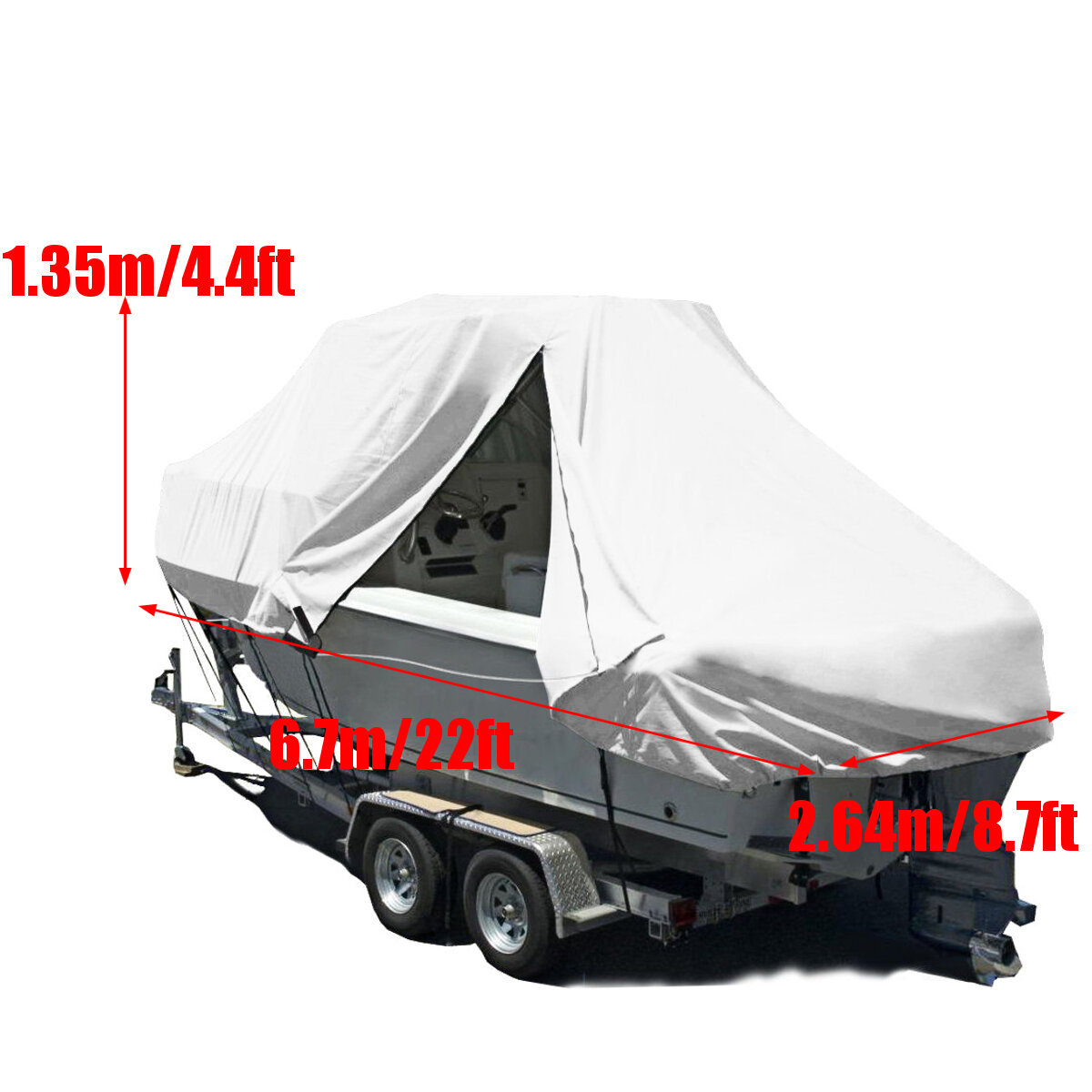 600D 22FT SpeedboatBoat Cover Dust Waterproof Protection Anti-UV Covers