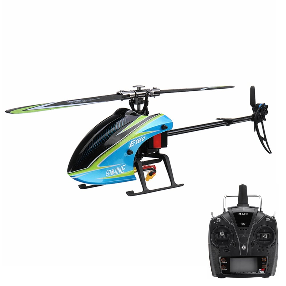 Eachine E160 6CH Brushless 3D6G System Flybarless RC Helicopter RTF Compatible with FUTABA S-FHSS