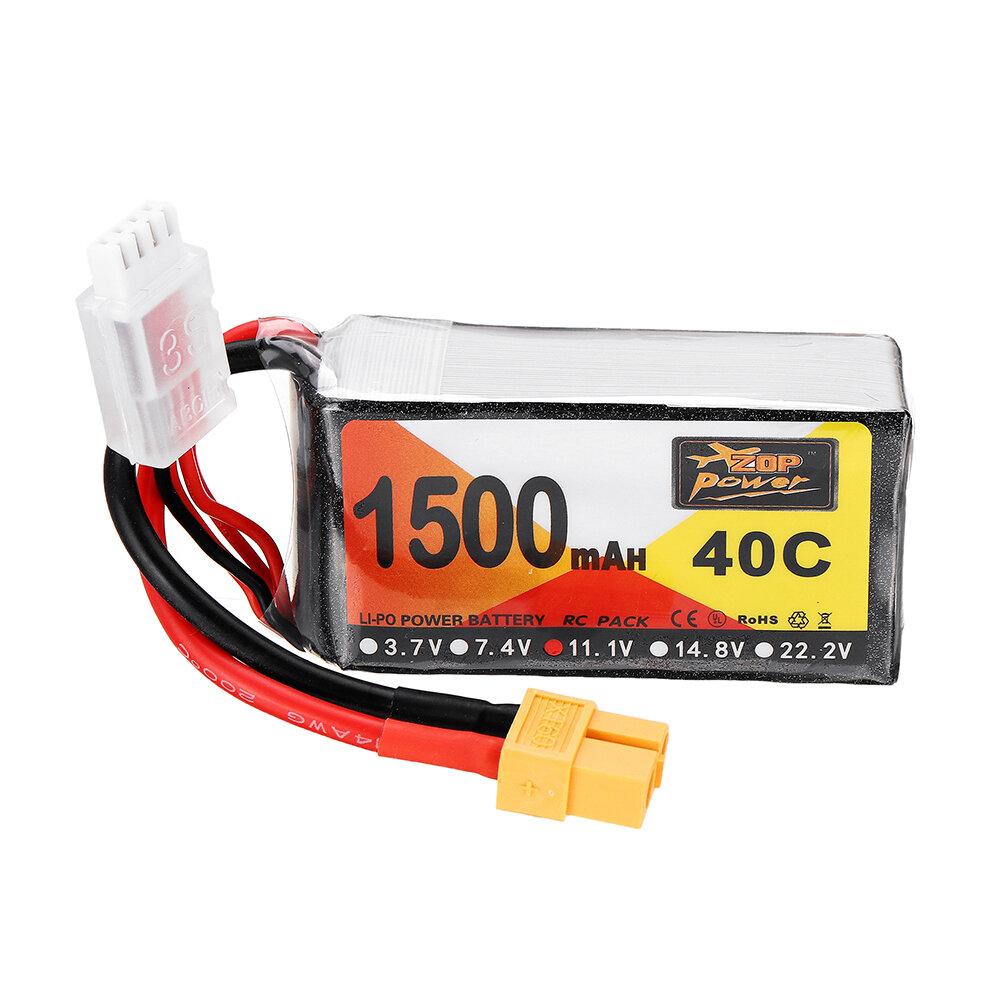 ZOP питания 11.1V 1500mah 40c 3S липо батареи XT60 штекер